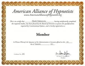 AAH - Certificate